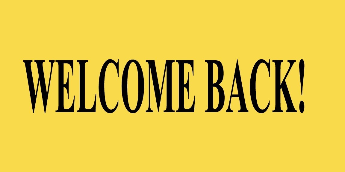 welcome back greeting