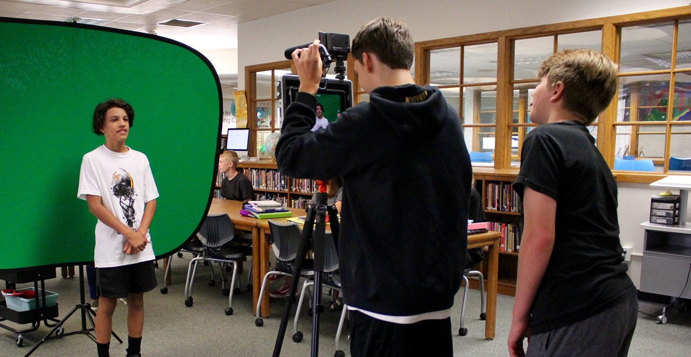 Students recording projects with a Padcaster