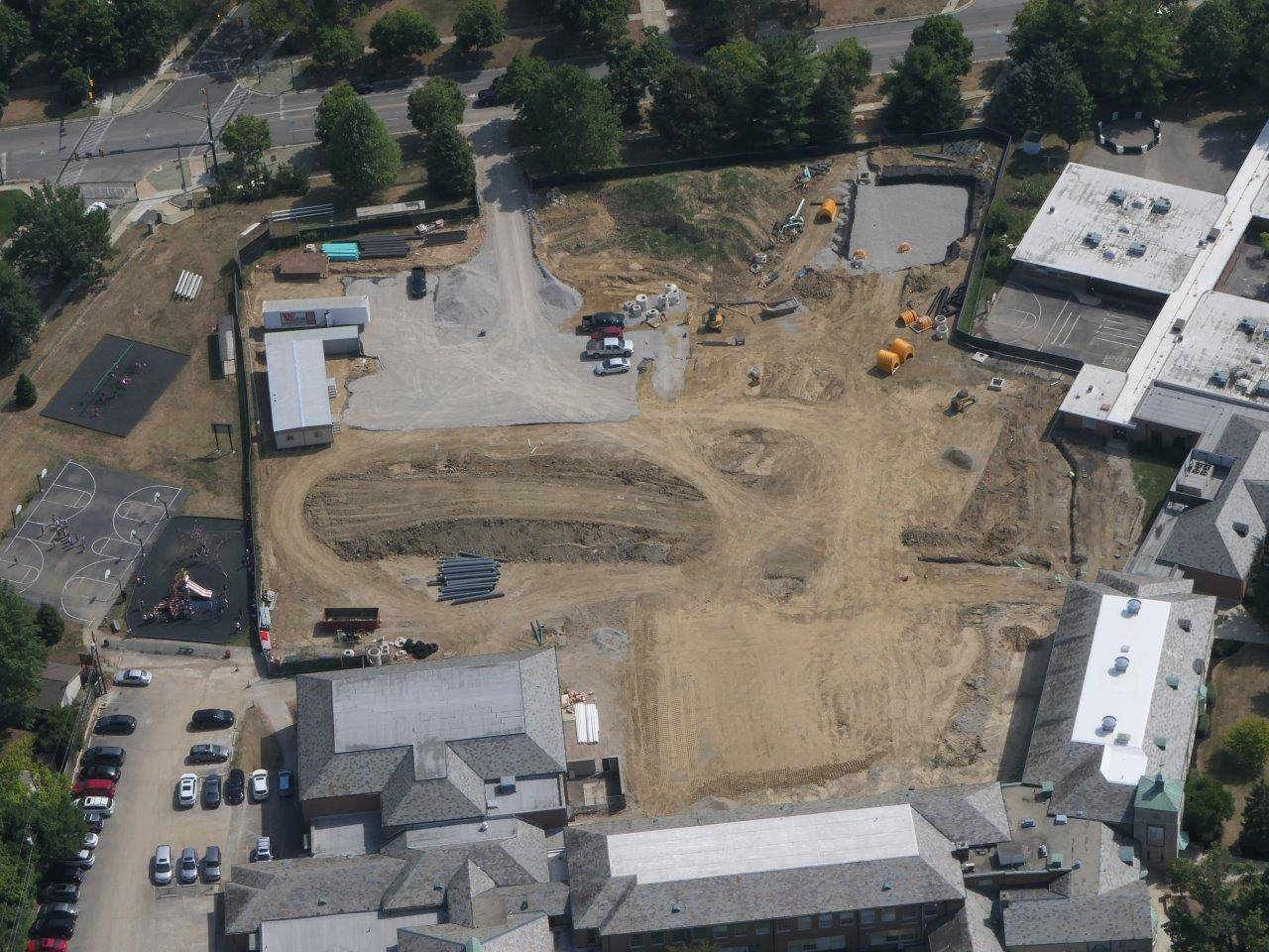 Site preparations for the addition to Barrington Elementary School