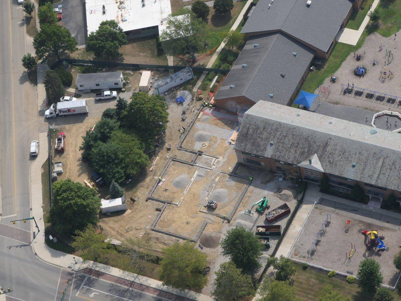 Footing and foundation work on the addition at Tremont Elementary School