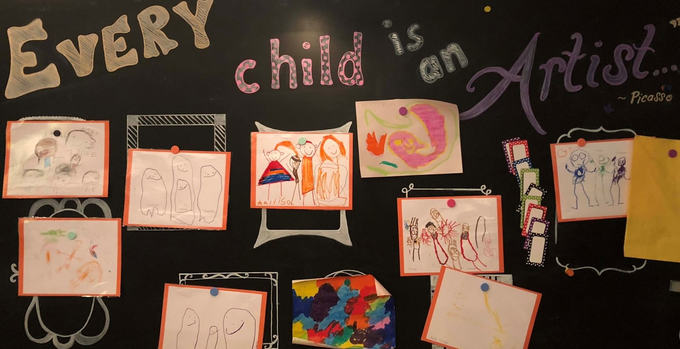 Every child is an artist themed student artwork