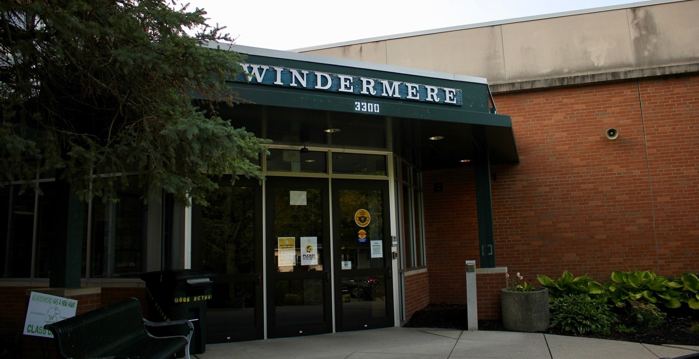 "The temporary ""Camp Windermere"" in the new Wickliffe building"