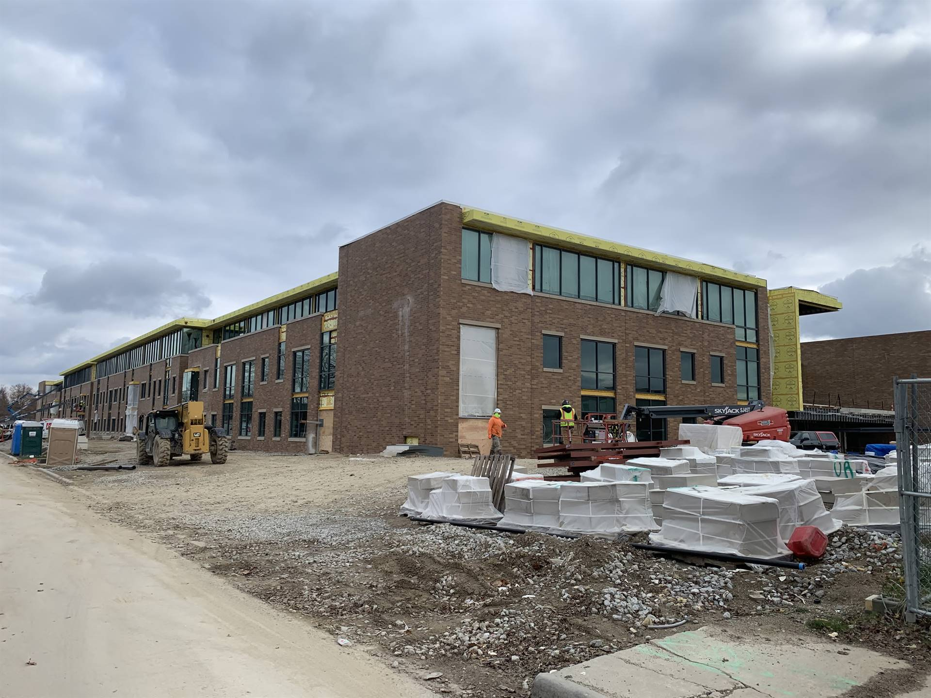 A ground level view of the new Upper Arlington High School