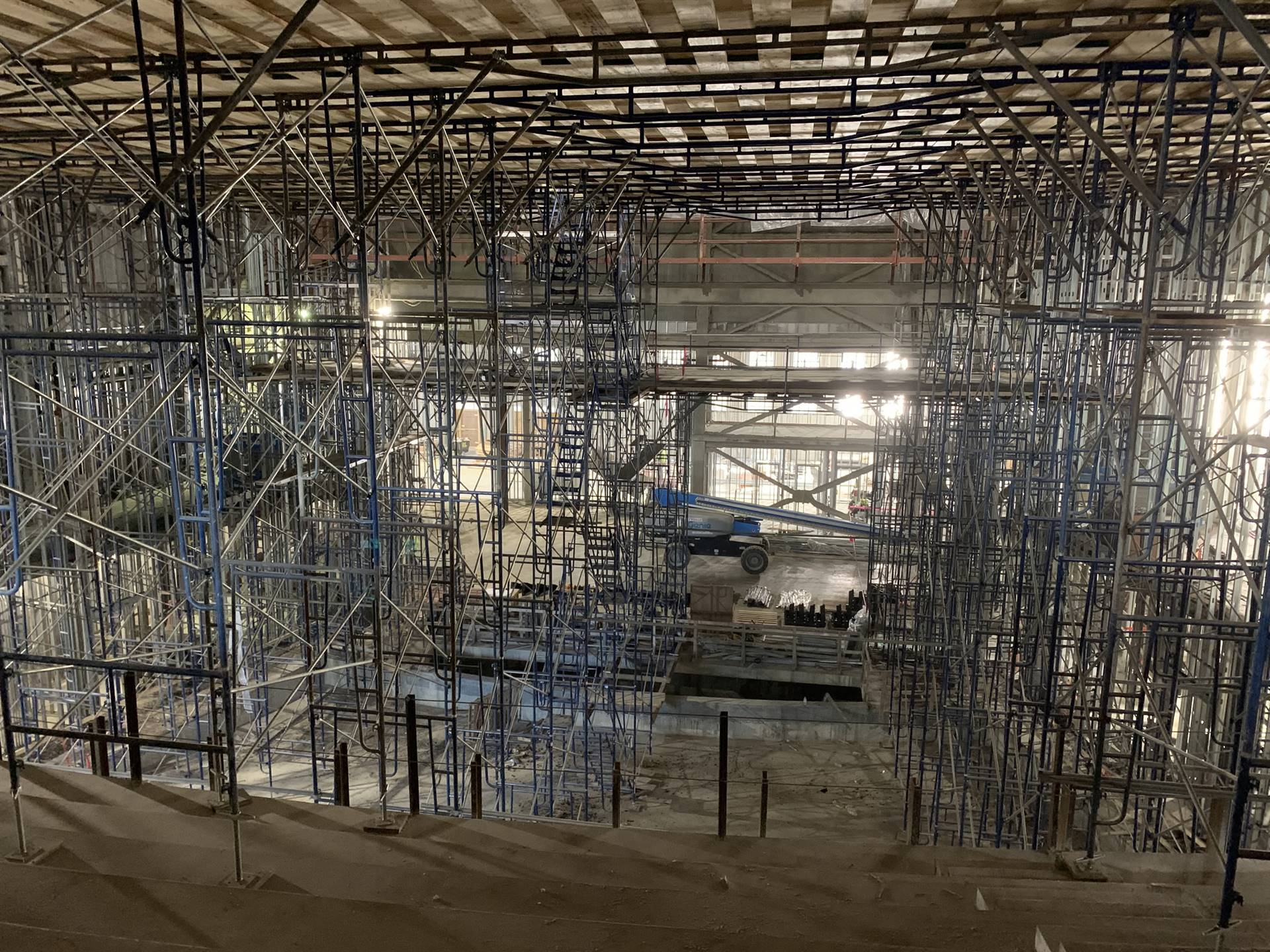 Inside the new Upper Arlington High School auditorium