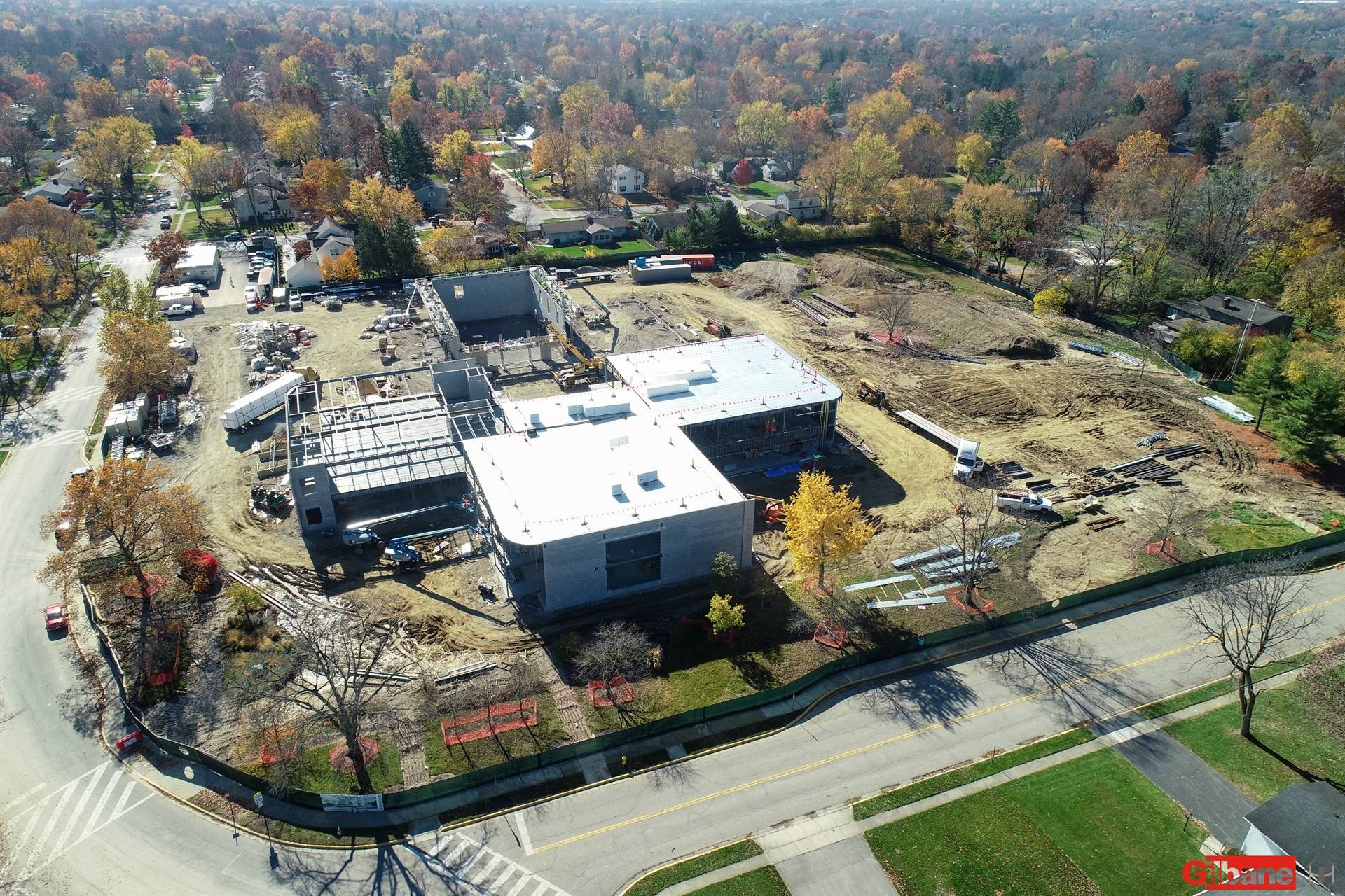 An aerial view of the new Windermere Elementary School
