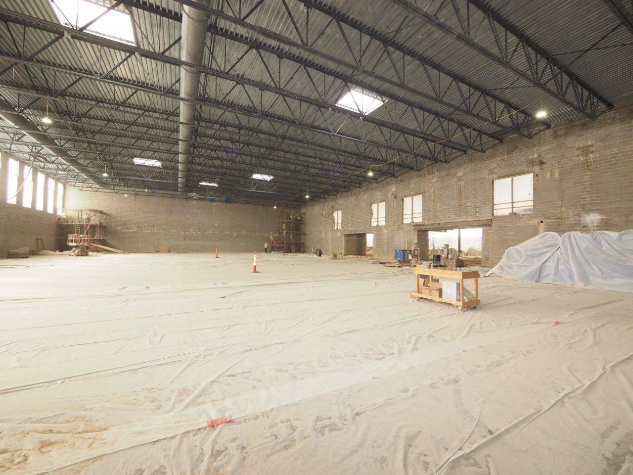 Inside the new high school gymnasium