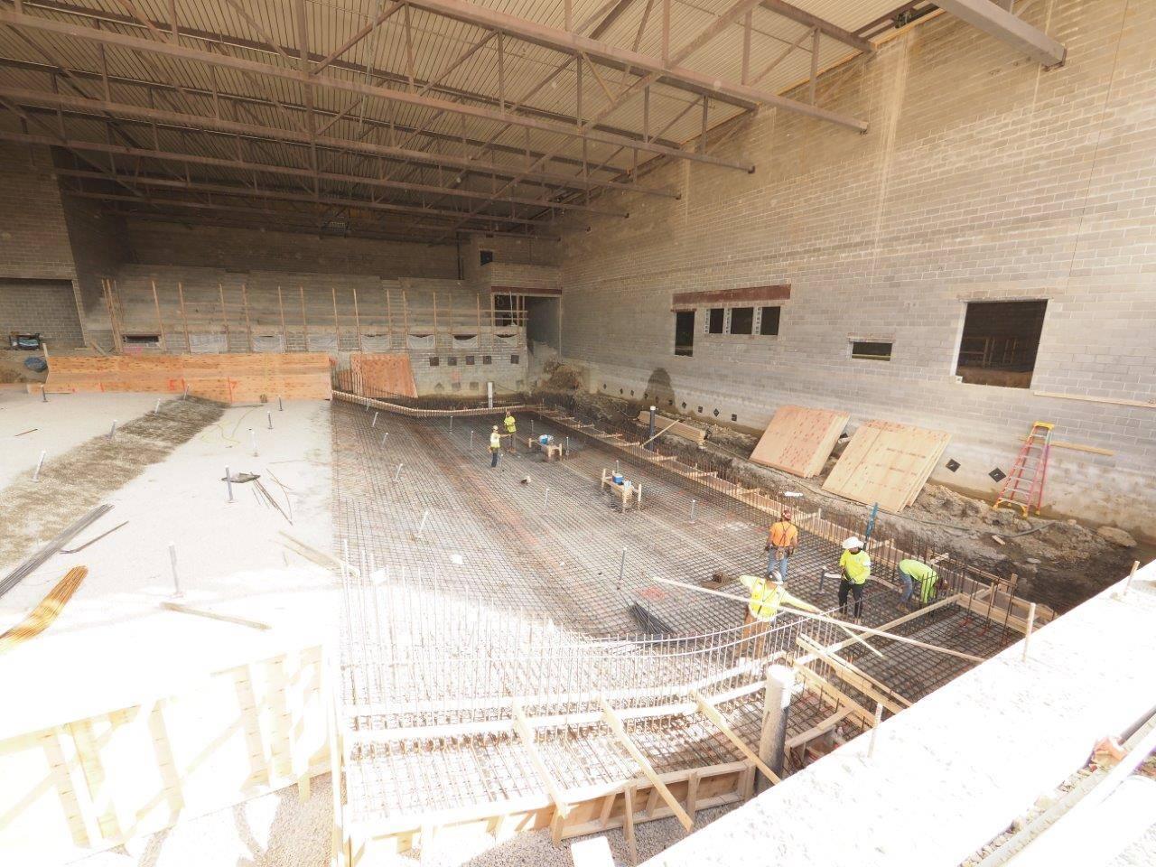 Inside the new high school natatorium