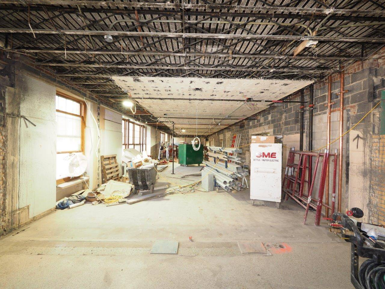 Demolition work for the Barrington Elementary School renovation project
