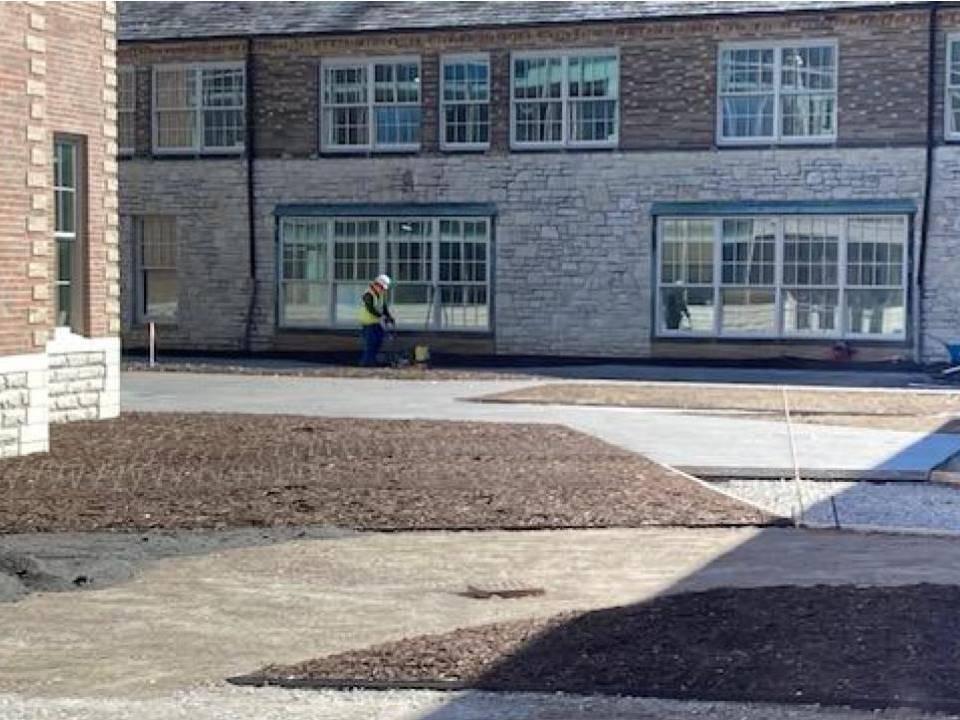 The Barrington Elementary School new courtyard