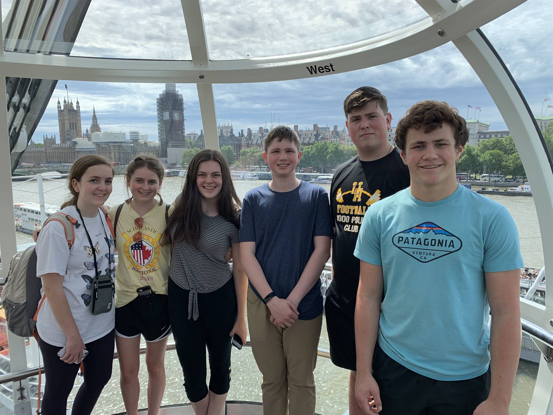Students on an international travel tour in London