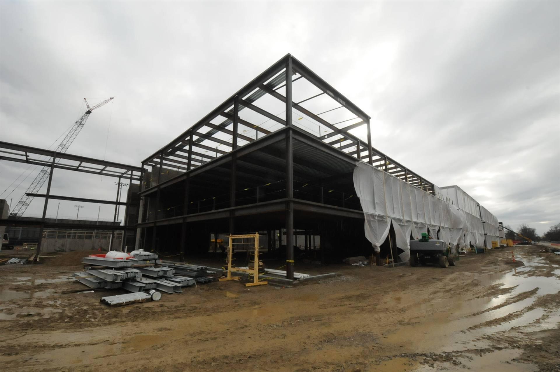 Steel work on the new Upper Arlington High School