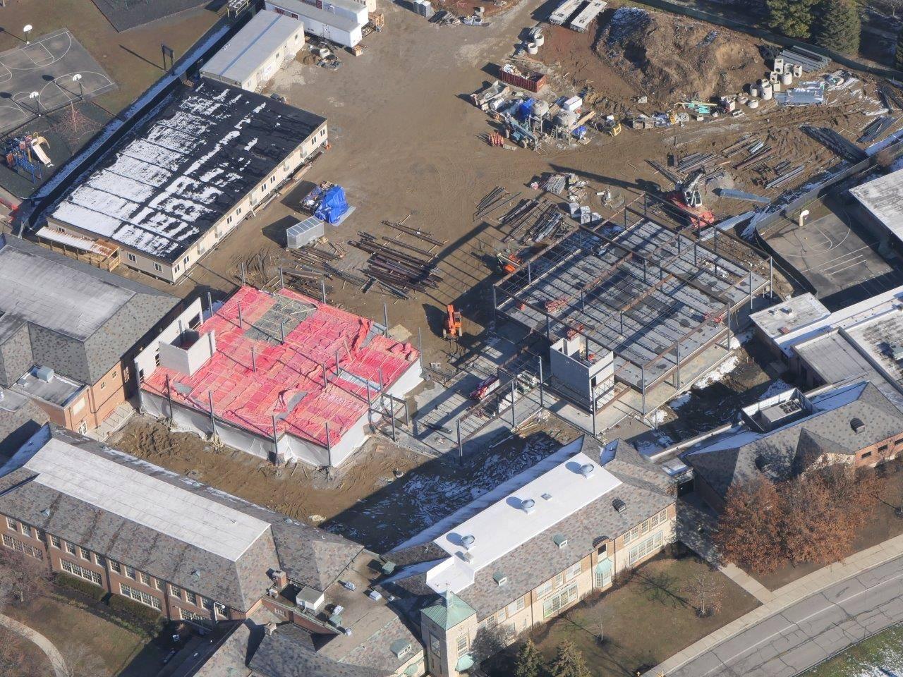 An aerial of Barrington Elementary School