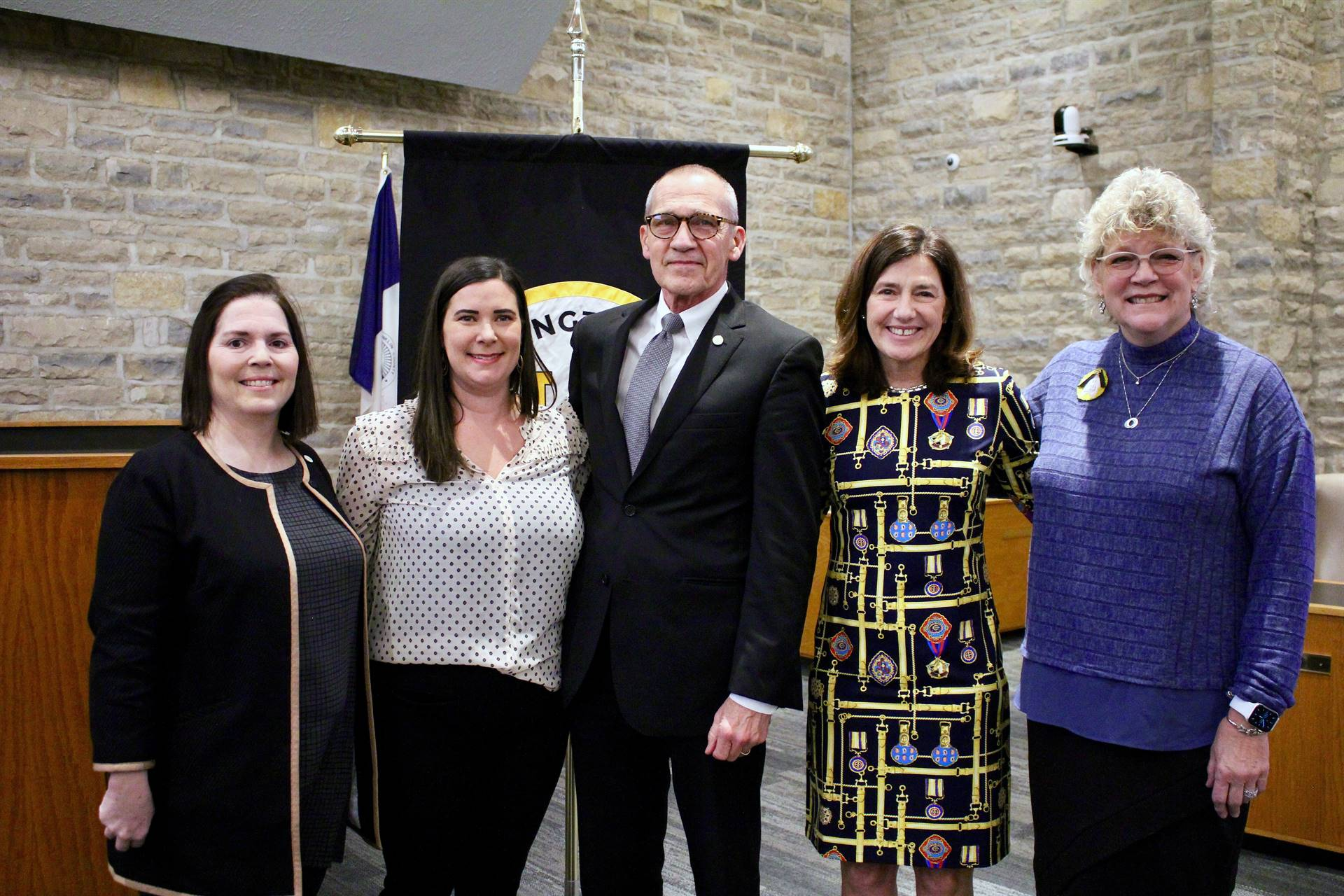 The members of the Upper Arlington Board of Education