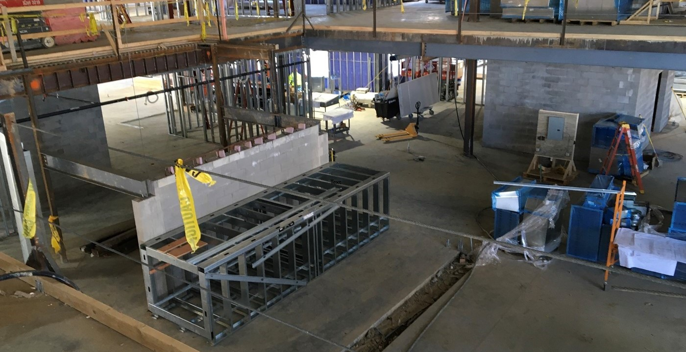 Construction view of new Wickliffe library