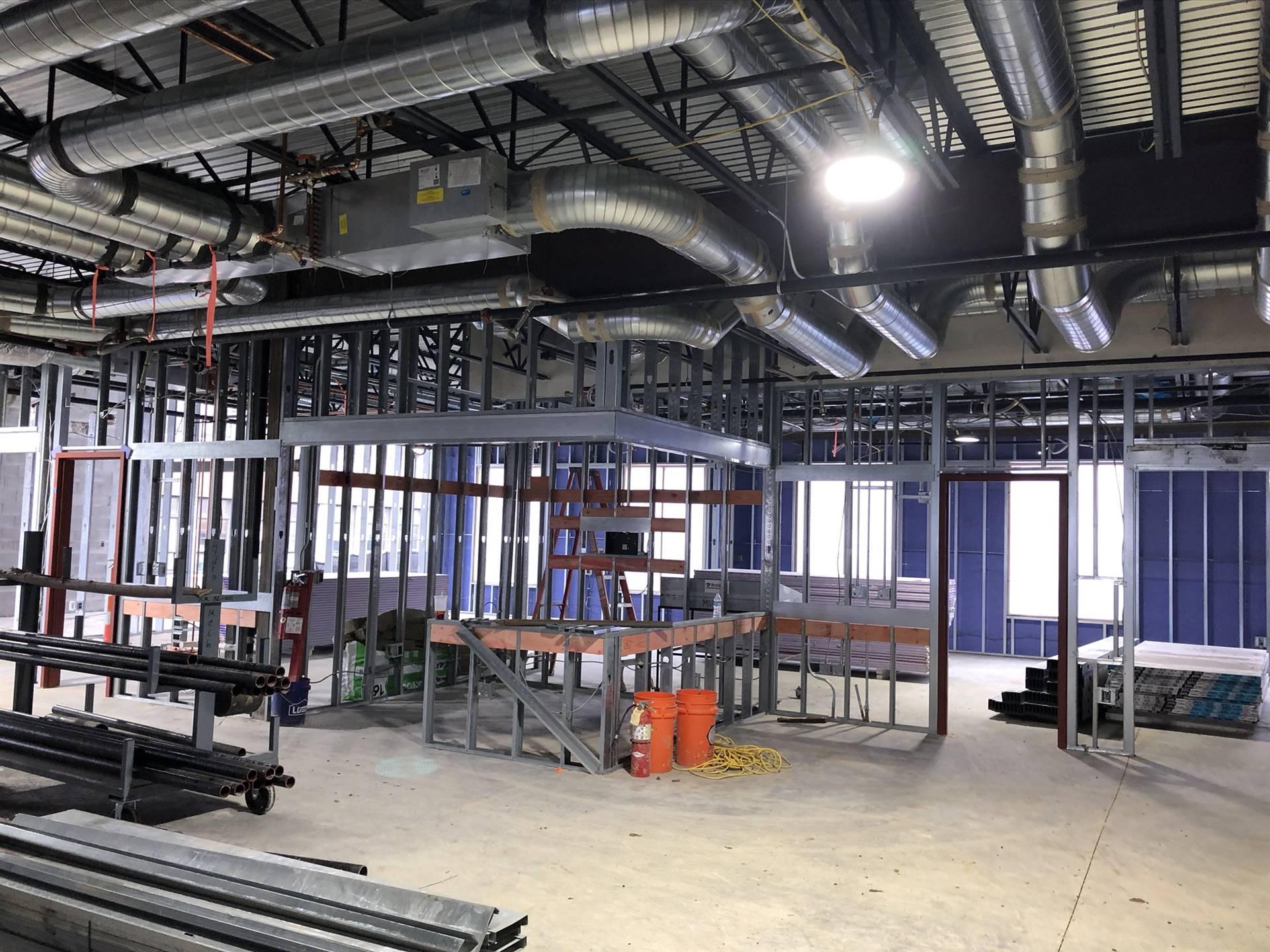 Interior framing on the new Wickliffe Progressive Elementary School