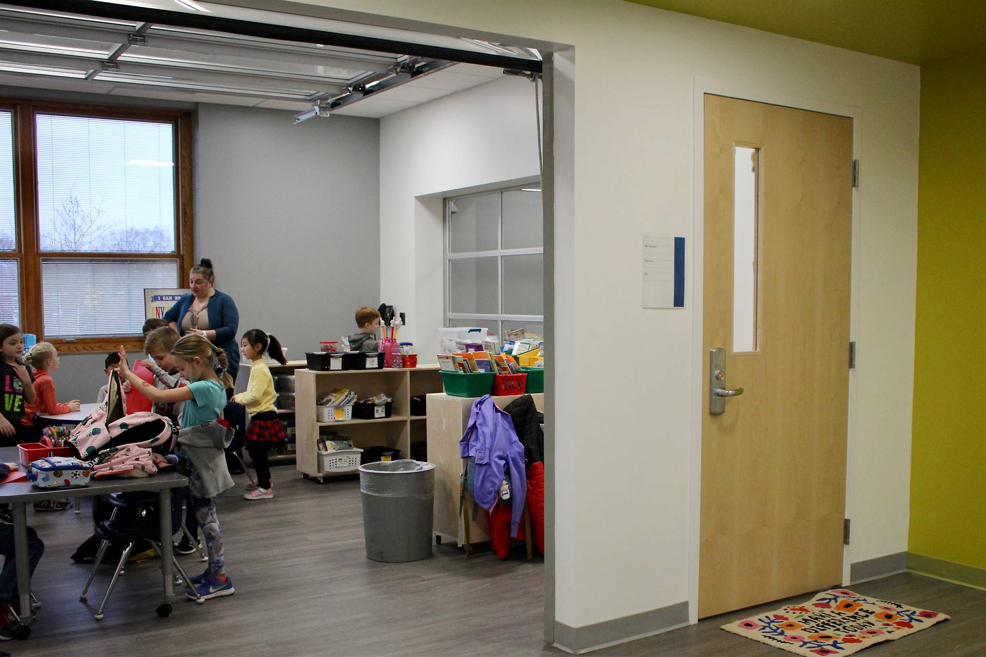 A renovated second floor classroom at Tremont Elementary School