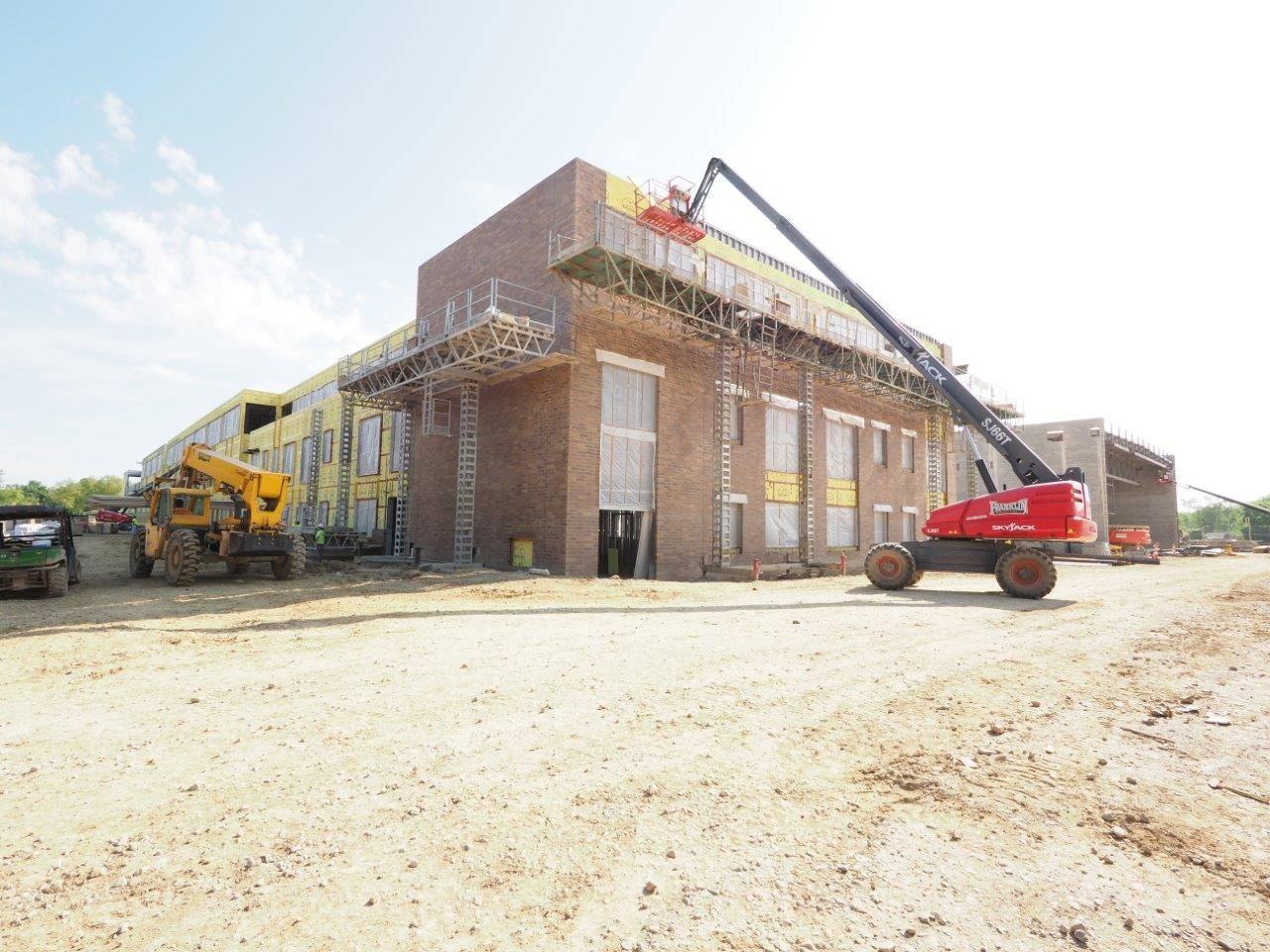 Masonry work on the new Upper Arlington High School