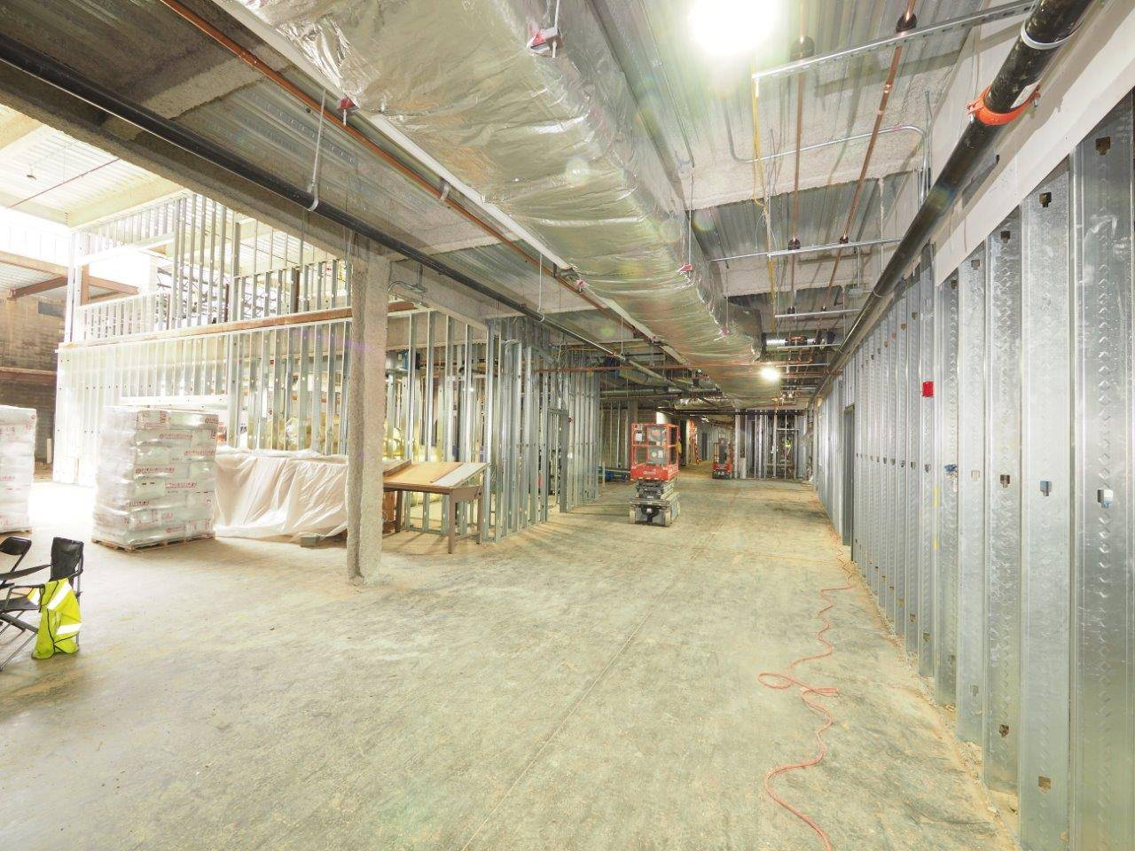 Inside the new Upper Arlington High School's academic wing