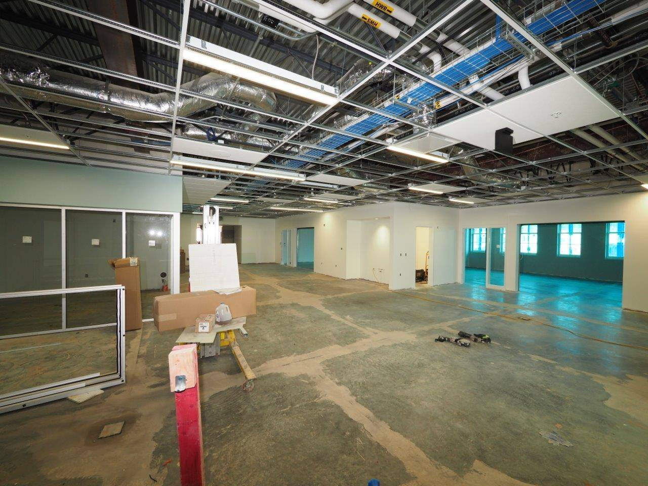 Inside the Barrington Elementary School addition project