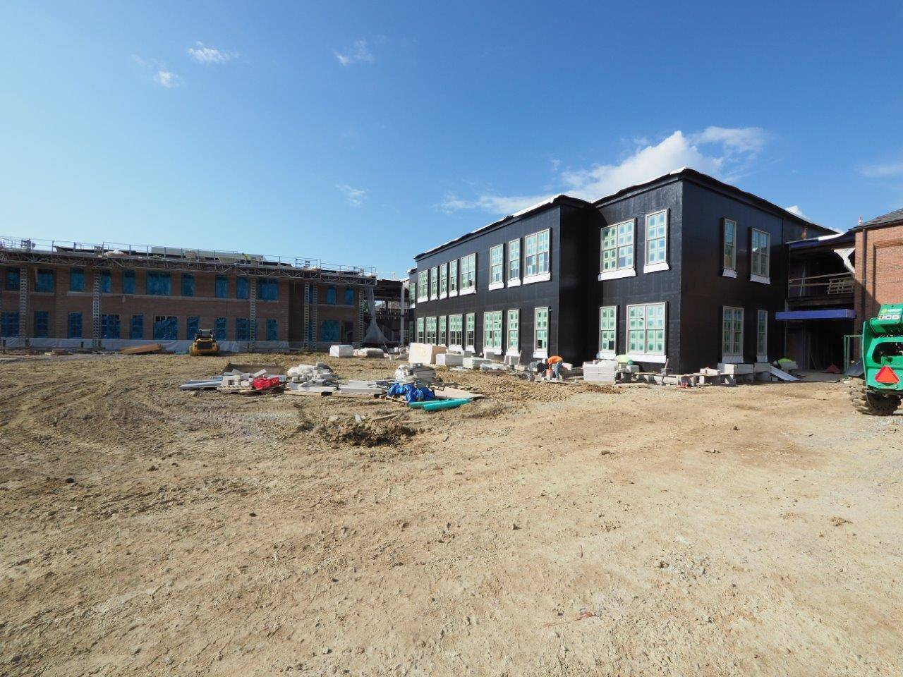 An exterior of the Barrington Elementary School addition project