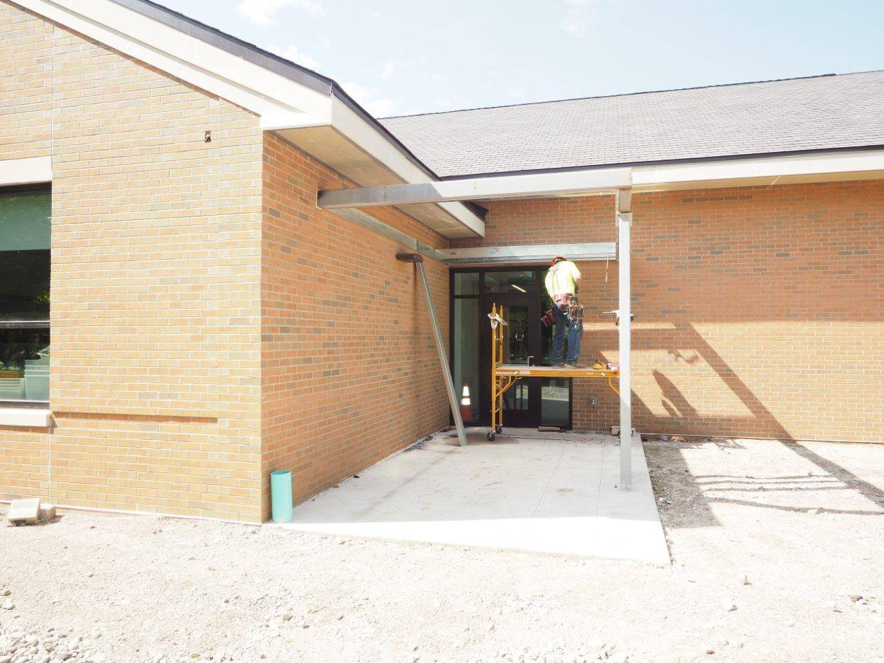 Exterior work on the Tremont Elementary School addition