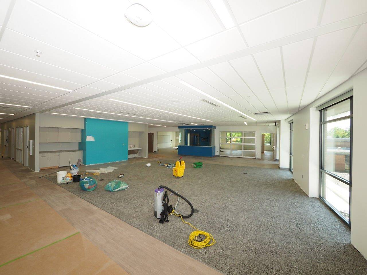 Inside the new Greensview Elementary School