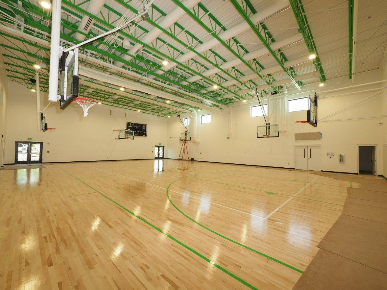 Inside the new Greensview Elementary School gymnasium
