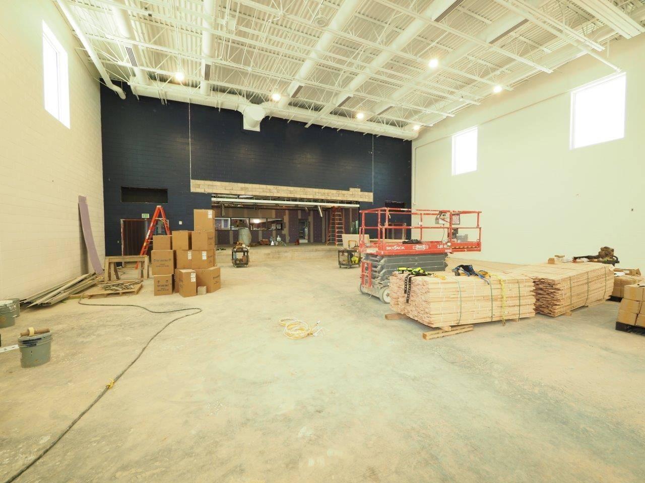 Inside the new Wickliffe gymnasium