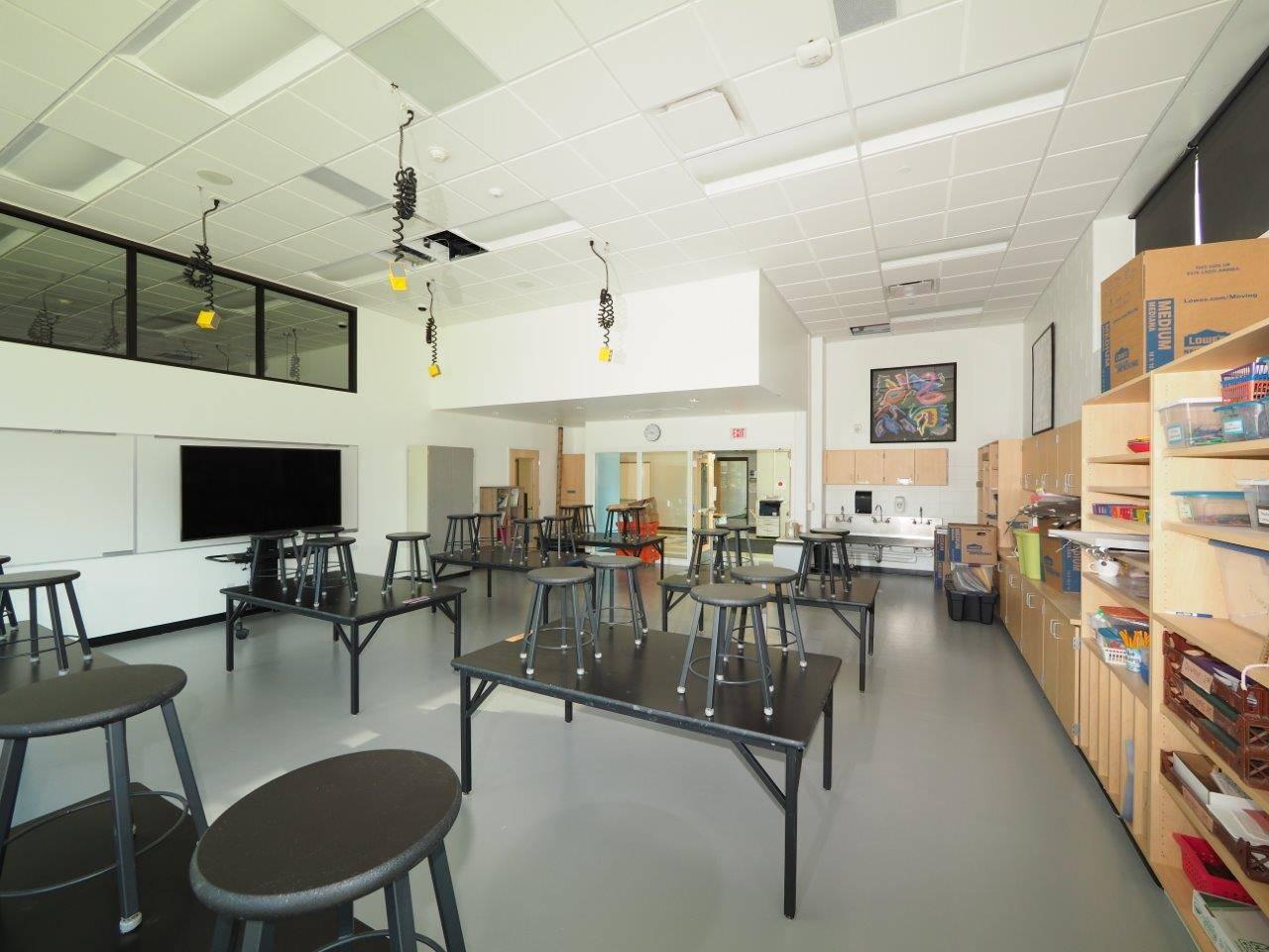 A renovated art room
