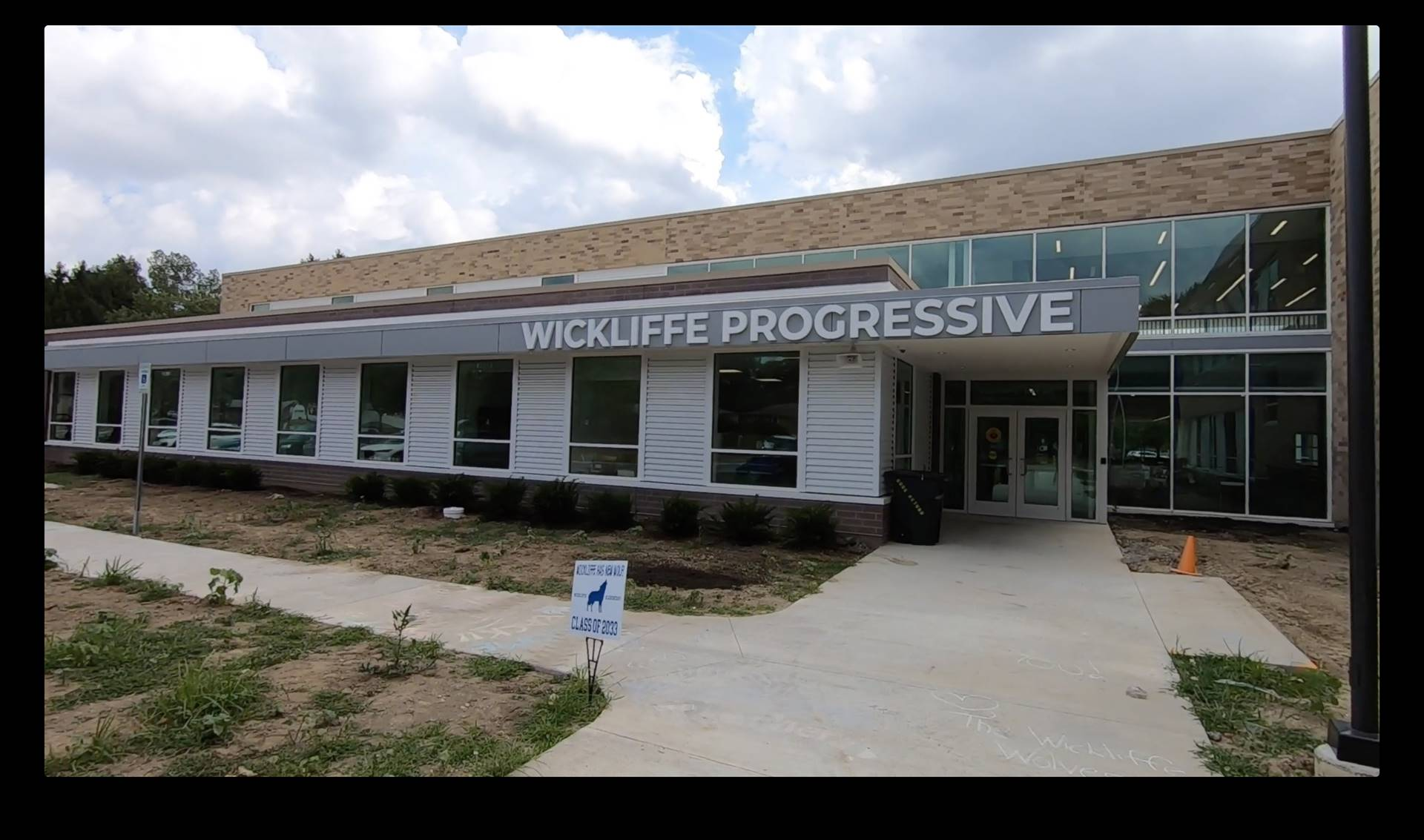 An exterior view of Wickliffe