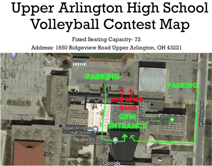 Boys Volleyball Map