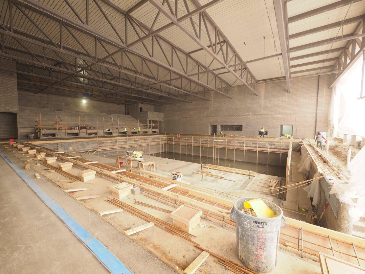 The new Upper Arlington High School natatorium