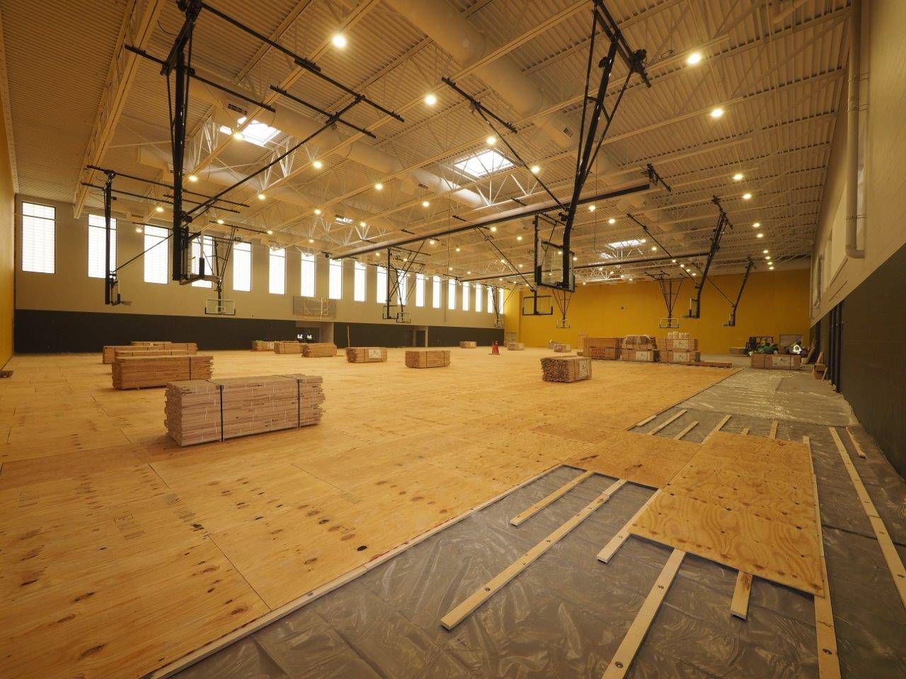 The new Upper Arlington High School competition gymnasium