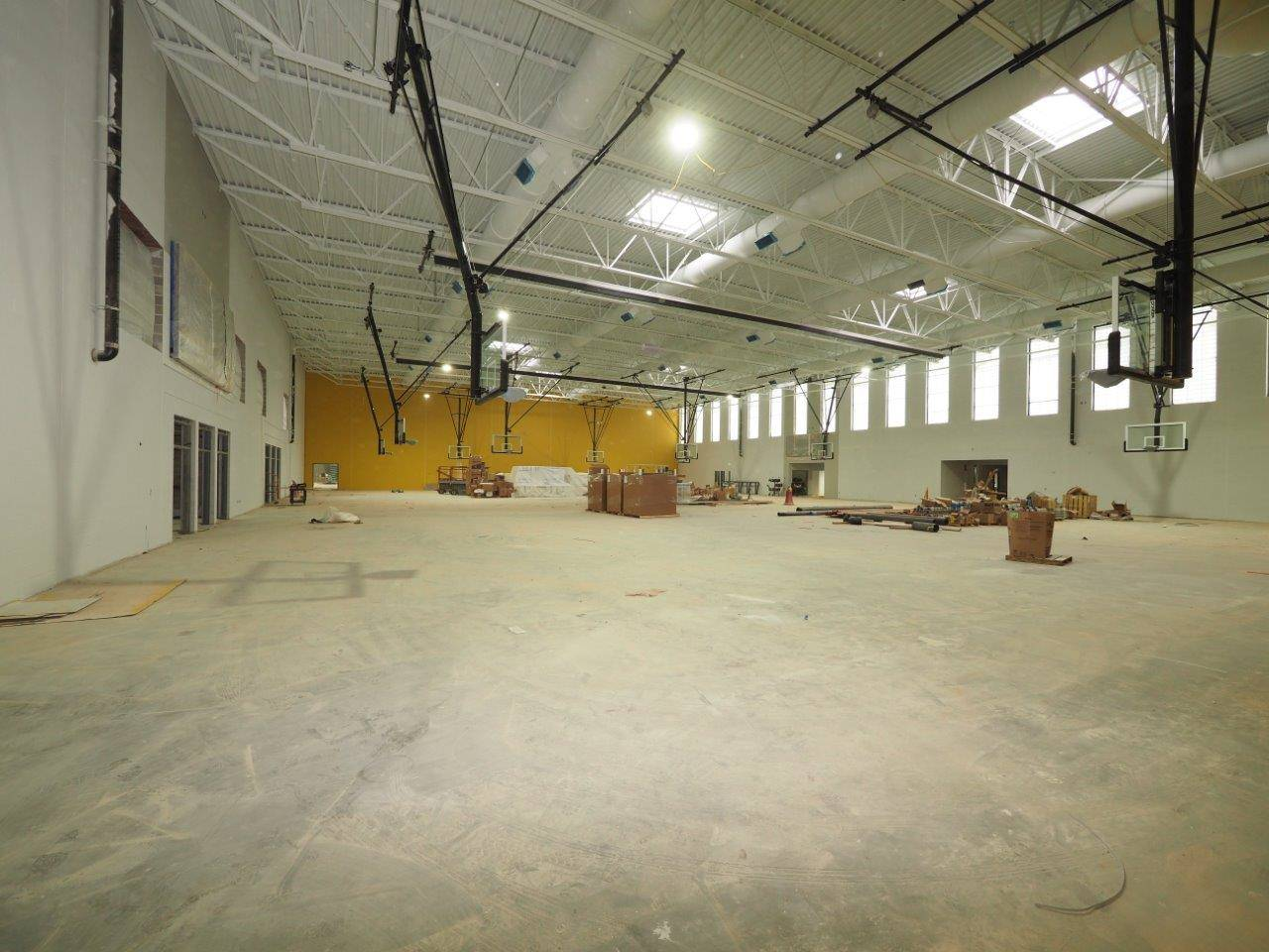 Inside the competition gymnasium
