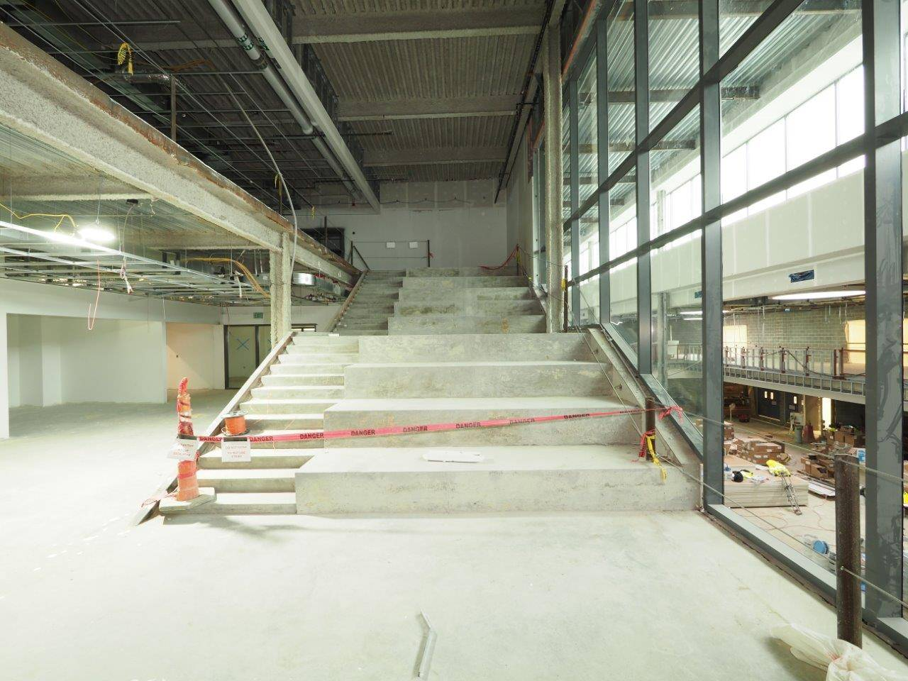 Learning stairs in the new Upper Arlington High School