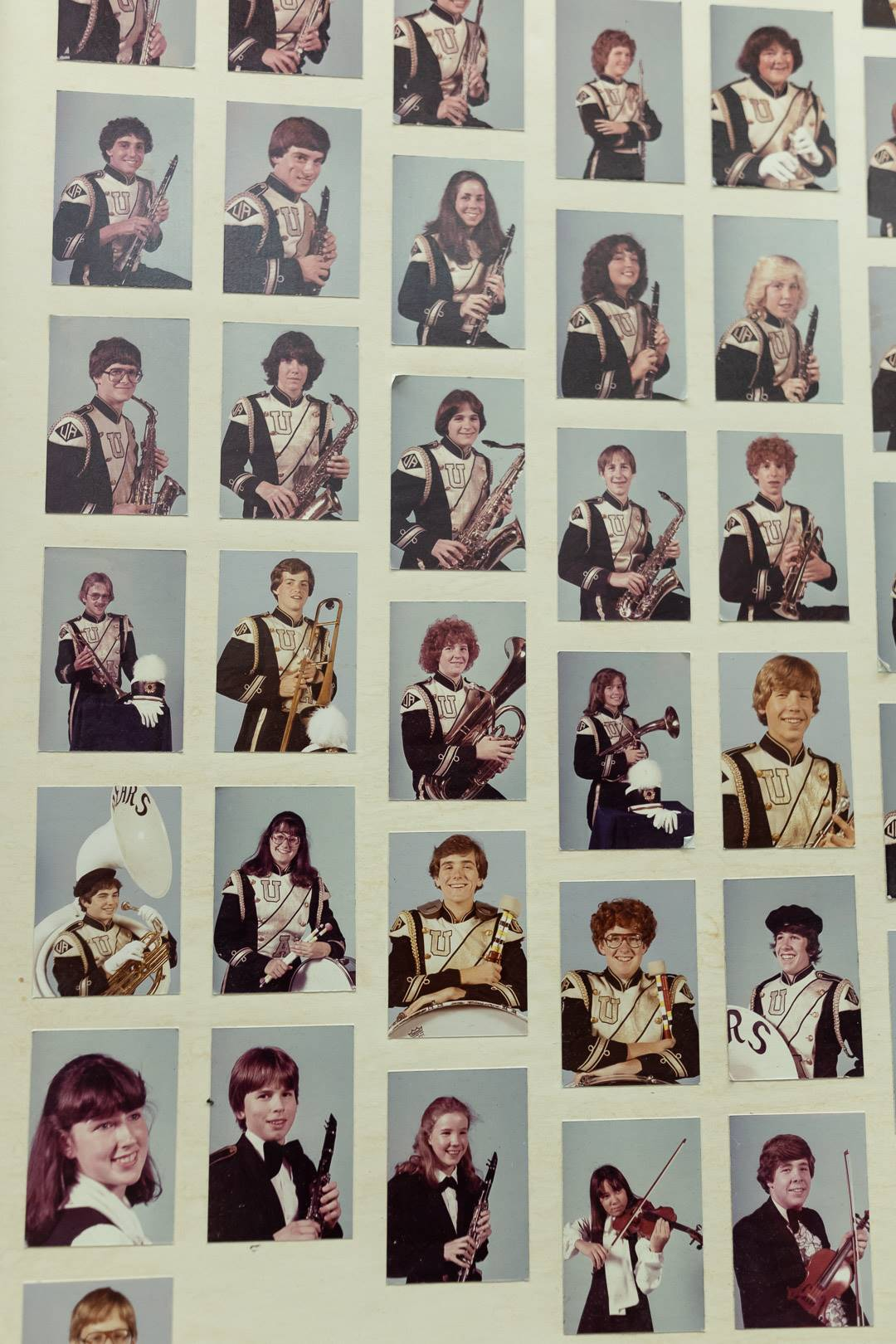 Past photos of students in the arts
