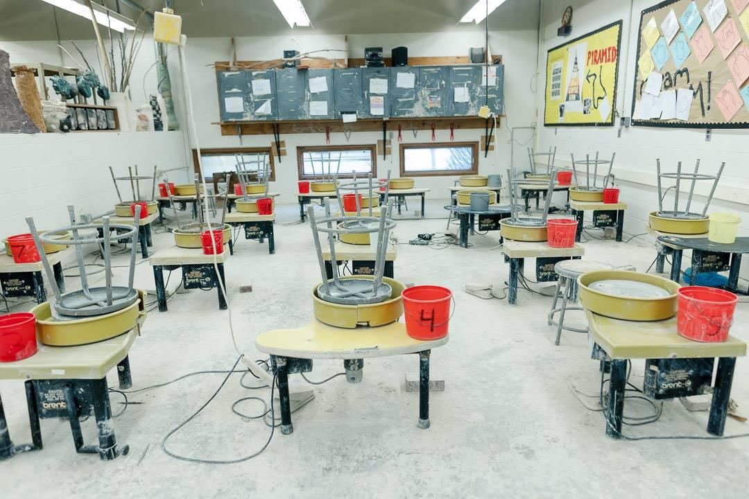 Ceramics room