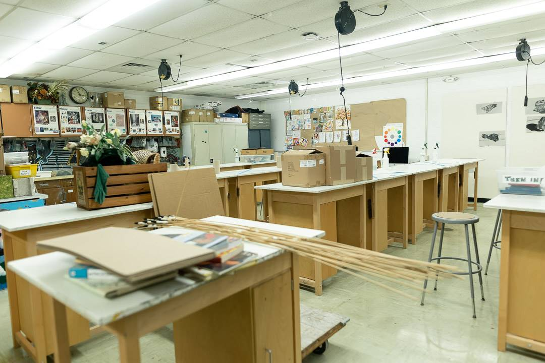 Visual arts classroom