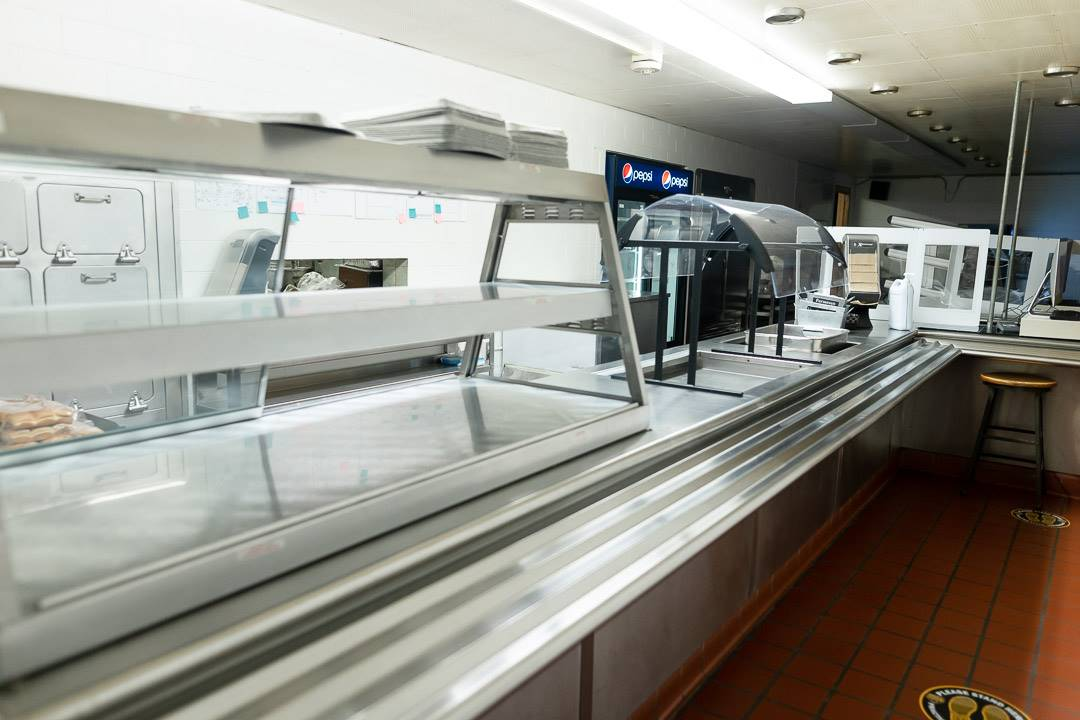 Cafeteria servery