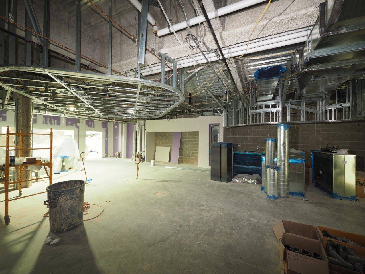 The servery area in the new high school