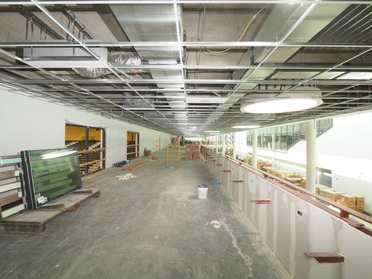 The mezzanine level along Golden Bear Boulevard