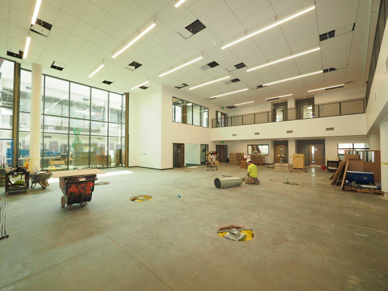 Inside the academic wing