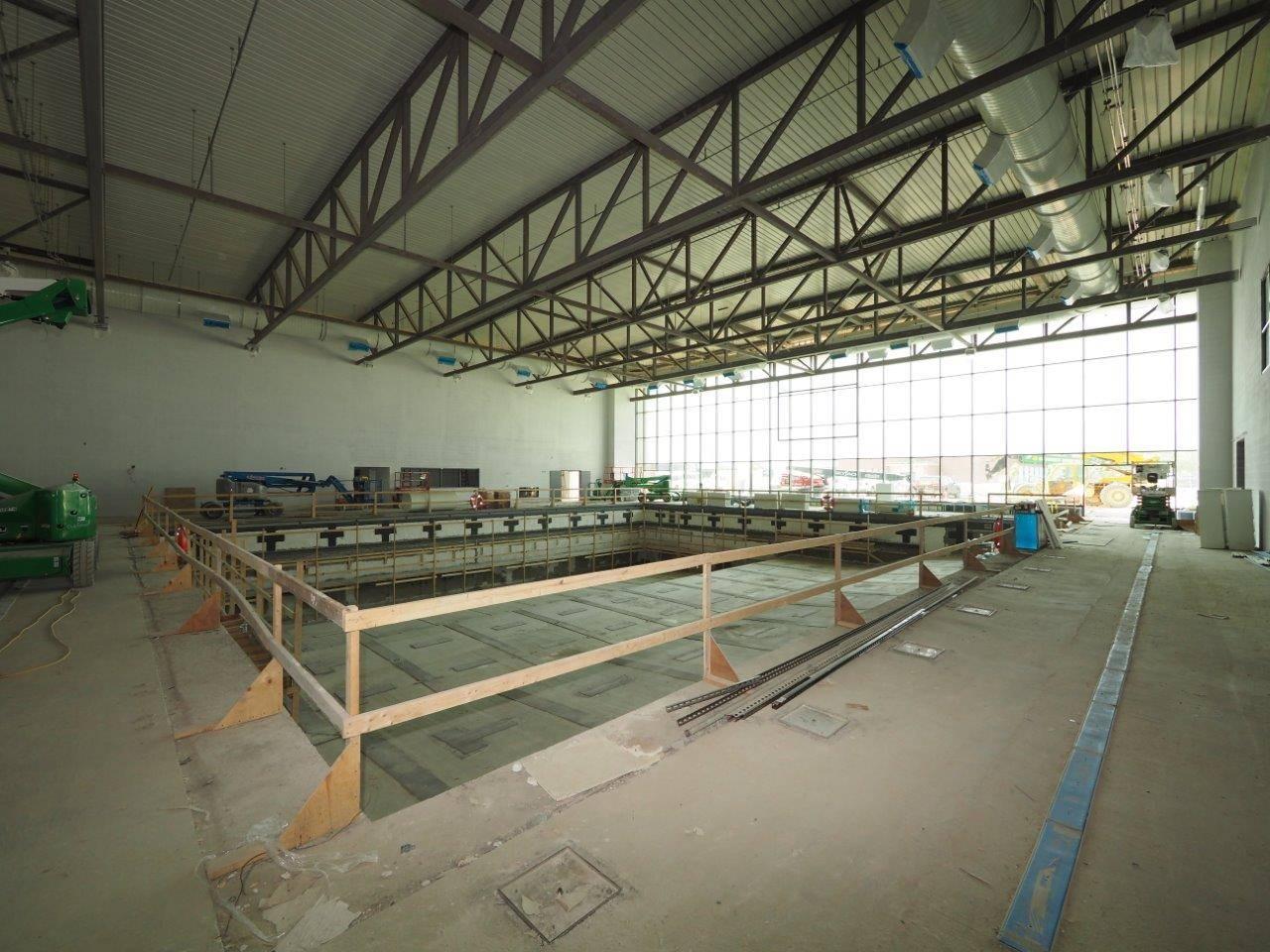 Inside the natatorium