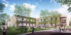 A view of the new Wickliffe Progressive Elementary School